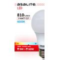 ASALITE BEC LED GLOB A60 9W 4000K 810 LUMEN