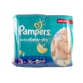 SCUTECE PAMPERS ACTIVE BABY DRY 4-9 KG. 96 BUC. (3)